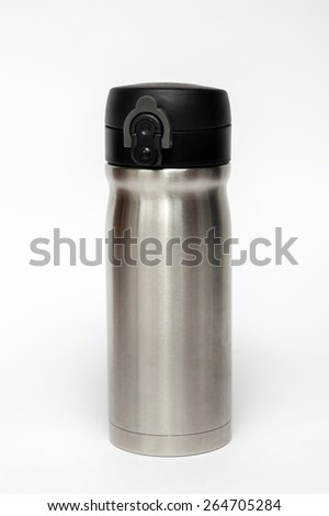 Thermos travel tumbler - stock photo