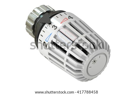 Thermostat, 3D rendering isolated on white background