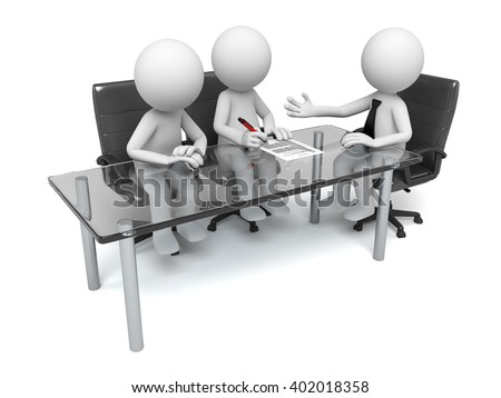 These 3d people are at meeting