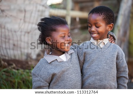 These two friends have a very special bond. - stock photo