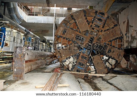 THESSALONIKI, GREECE - AUG 2: Works for the construction of metro in the center of town on August 2, 2010 in Thessaloniki,Greece. - stock photo