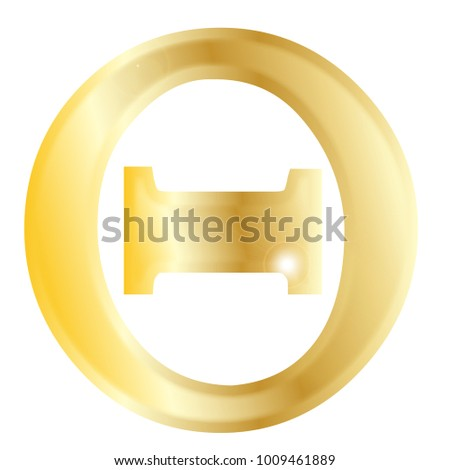 Theta Letter Greek Alphabet Isolated Over Stock Illustration