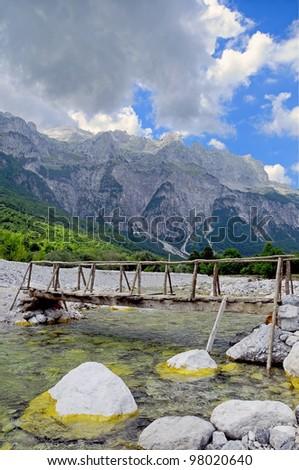 Thett Valley. Prokletije Mountains. Albania - stock photo