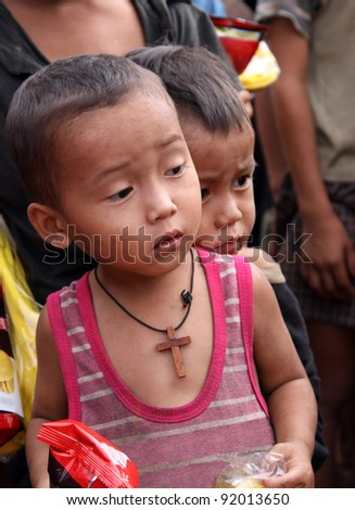 They are Poor Child in North Thailand