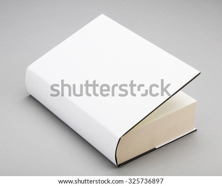 Thick Blank book with ajar white cover
