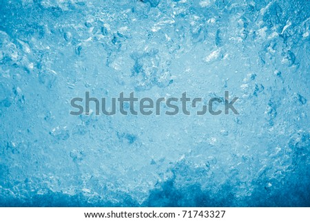 thick ice texture - stock photo