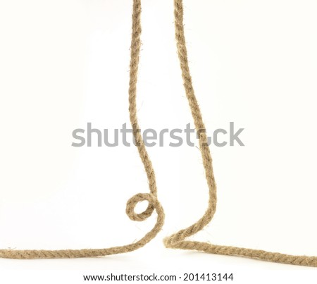 Thick rope isolated on white background