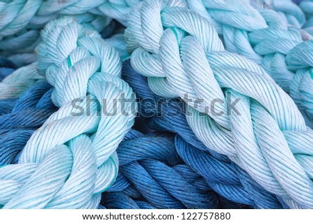Thick rope marine close-up. Abstraction. - stock photo
