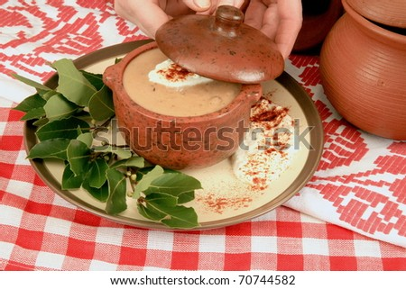 Thick soup - stock photo