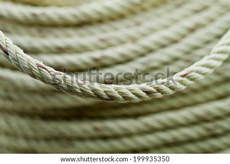 Thick strong rope