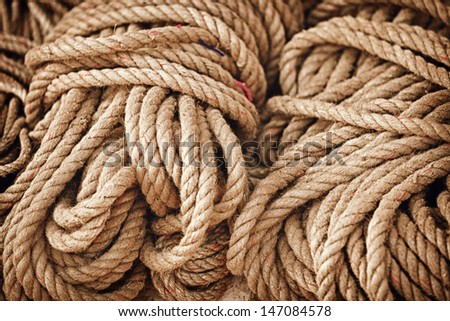 Thick strong rope sold in the open market