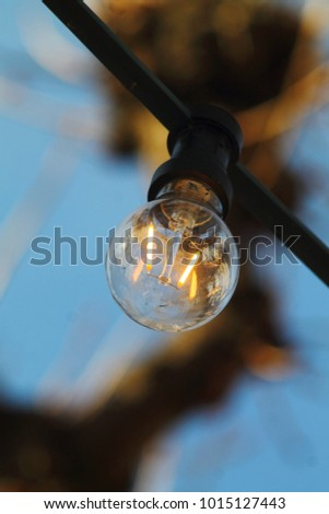 thick wire burning light bulb against stock photo royalty free