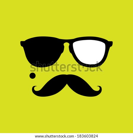 thief or burglar with old style mustache, sunglasses . This graphic icon also represents robber with mole, mugger, crook or criminal - stock photo
