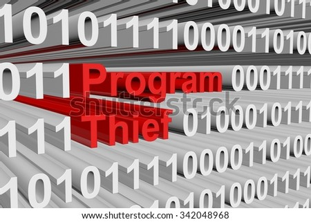 thief program is presented in the form of binary code