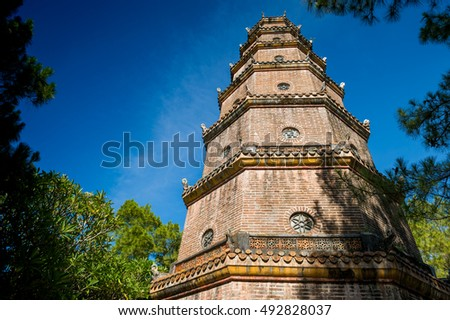 Thien Mu Temple and Pagoda, Hue, Vietnam