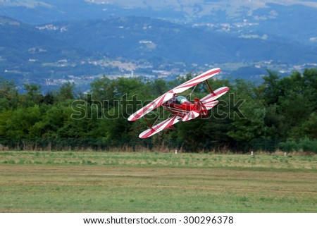 Thiene, Vicenza - Italy. 26th July, 2015: important air show called FlighThiene in Thiene Airport near Vicenza City in Northen Italy with many historical and modern airplanes