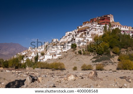 Thiksey monastery in Ladakh, India