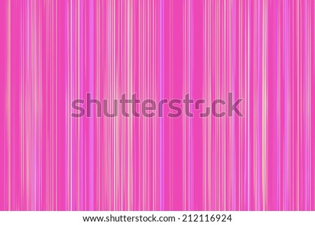 Thin yellow stripes on a pink background - stock photo
