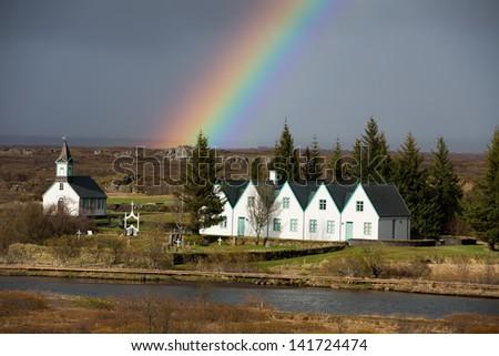 Thingvellir National Park, Iceland - stock photo