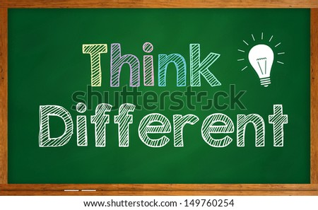 Think different - stock photo
