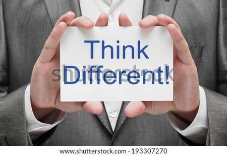 Think different concept - stock photo