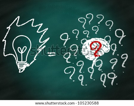 Think different leading to successful concept - stock photo