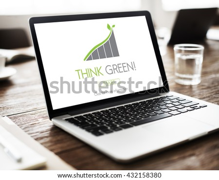 Think Green Conservation Ecology Environment Concept - stock photo