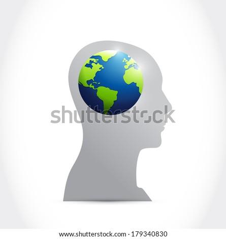 think international concept illustration design over a white background - stock photo