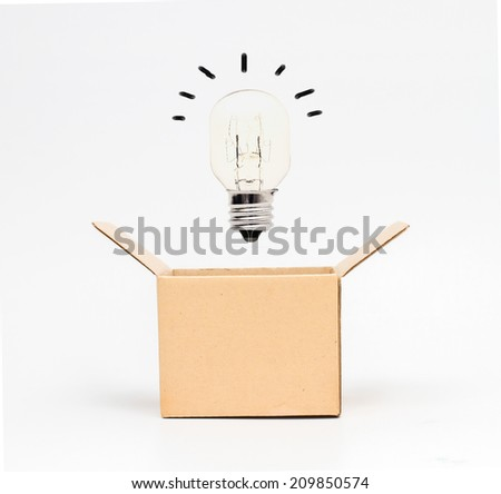 Think out of the box or thinking outside the box concept, - stock photo