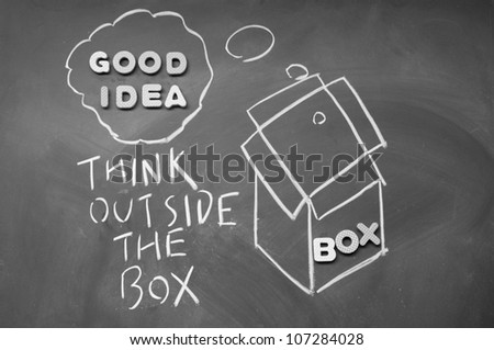 think outside the box - stock photo