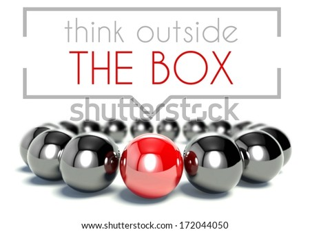 Think outside the box business unique concept - stock photo