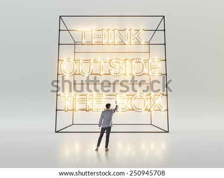 Think outside the box concept - stock photo