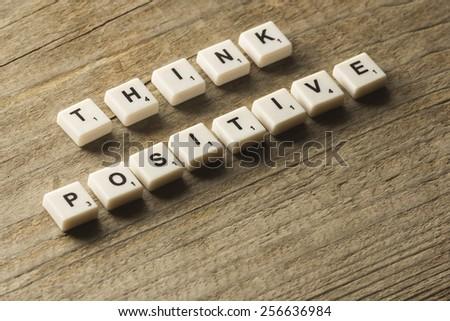 Think positive - stock photo