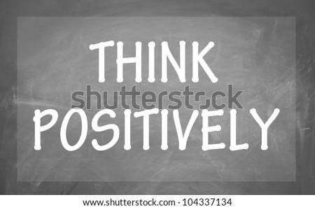 think positively symbol - stock photo