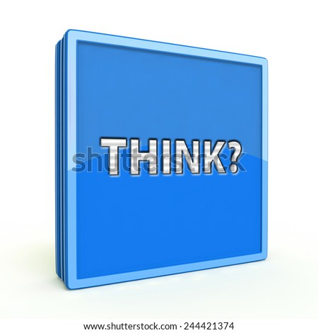 Think square icon on white background