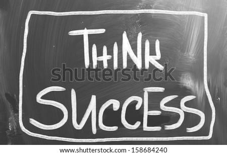 Think Success Concept - stock photo