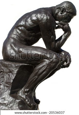 Thinker Isolated - stock photo