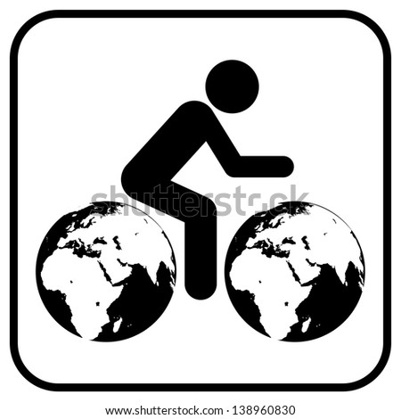 Thinking about earth - stock photo