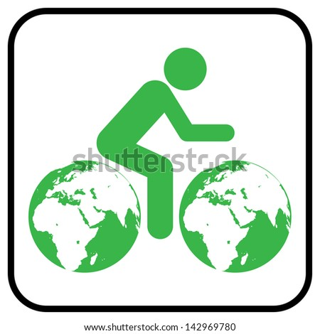 Thinking about earth, - stock photo
