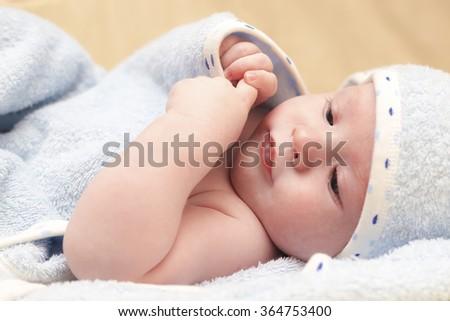 Thinking baby - stock photo