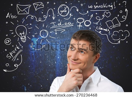 Thinking. Deep thought - stock photo
