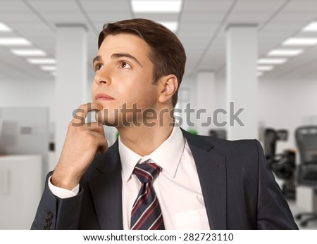 Thinking, Men, Confusion. - stock photo