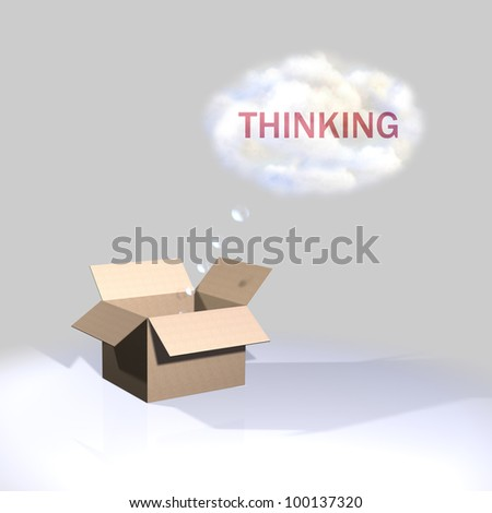 Thinking outside the box - stock photo