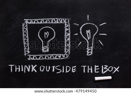 Thinking outside the box on the blackboard