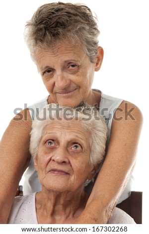Third Age Mother and Daughter  - stock photo