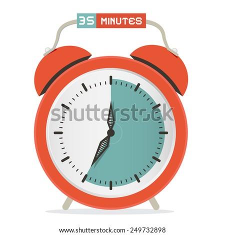 Thirty Five Minutes Stop Watch - Alarm Clock Illustration  - stock photo