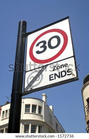Thirty miles per hour - stock photo