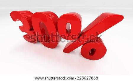 Thirty percent off. Discount 30.  Percentage. 3D illustration - stock photo