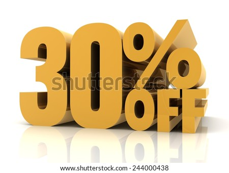 thirty percent off sale