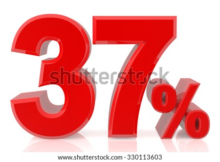 thirty seven percent red 3d rendering